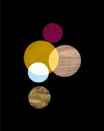 A.Laviada, Pink, Yellow, White Circles, 2014