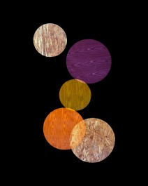 A.Laviada, Purple, Orange, Yellow Circles, 2014